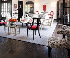 black white and red living room example of an eclectic living room design in san francisco amazing red living room ideas