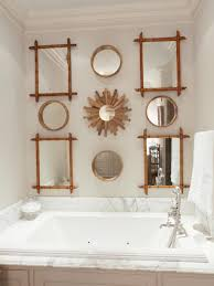 arts crafts bathroom vanity: arts crafts bathrooms pictures ideas tips from hgtv bathroom with large bathtub and bamboo framed mirrors