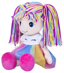 <b>Мягкая игрушка Maxitoys Кукла</b> Стильняшка радуга 40 см ...