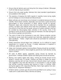 essay on road safety page  of