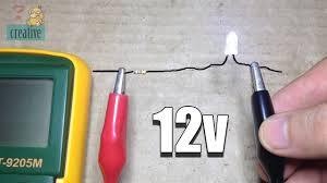 Use LED light with <b>12v DC</b> (using resistor) - YouTube