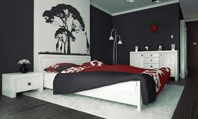 red wall paint black bed: top red black and white bedroom paint ideas  remodel decorating home ideas with red black