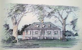 LOUISIANA STYLE HOUSE PLANS   TRADITIONAL HOME PLANSSouthern Country Plantation Louisiana Acadian Low Country
