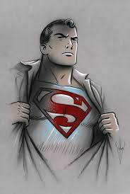 Image result for superman pencil drawing