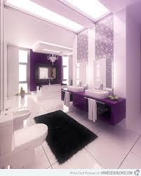 purple bathroom dark