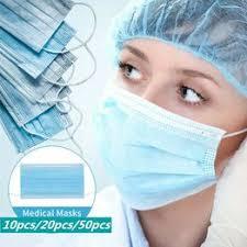 10 Pcs/20 Pcs/50 Pcs Disposable Non Woven Anti-dust Face ... - Vova