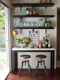 bar area ideas kitchen gorgeous dining room features a steel and marble table turned bar area