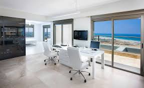 home office example of a trendy home office design in other with white walls and a burkesville home office desk