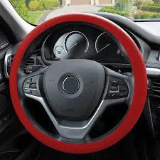 Car & Truck Parts <b>Leather</b> Texture Soft <b>Silicone</b> Car Steering Wheel ...