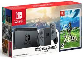 Купить Игровая <b>приставка Nintendo</b> Switch 32 GB Gray + 1 <b>игра</b> по ...
