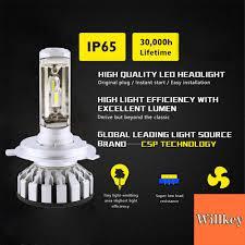 <b>R8</b> 16000LM <b>H4</b> HB2 9003 LED Headlight Dual Hi/Lo Beams Kit ...