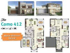 storey home for a corner block of land    floor plans    The gorgeous Como   a walk in robe to all four bedrooms