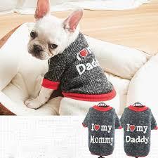 Cute <b>Cartoon Warm Dog Clothes</b> Stretch Cotton Striped Small Dog ...