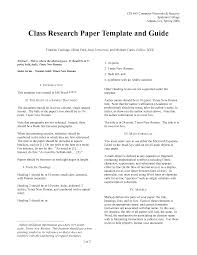 sample research paper on authors
