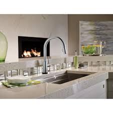 Delta Touch Kitchen Faucet Delta Faucet 9159t Dst Trinsic Polished Chrome Pullout Spray