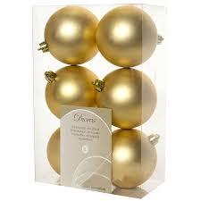 <b>Украшение Kaemingk Набор шаров</b> 6шт Gold 945531M | bestfleur.ru