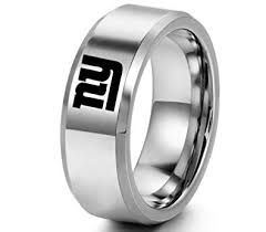 Sping <b>Jewelry</b> NFL <b>New</b> York Giants <b>Ring</b> Band <b>Titanium Steel</b> ...