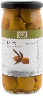 <b>Just Greece оливки зеленые</b> без косточки, 360 г — купить в ...