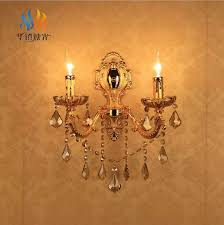 european vintage bedside k9 crystal wall light bedroom wall sconces hotel lamp fixtures led e14 crystal cheap bathroom lighting