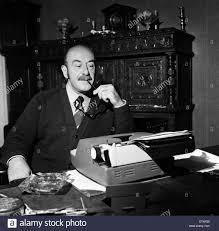 comedy script writer talbot rothwell at work in his fulking comedy script writer talbot rothwell at work in his fulking sussex home he
