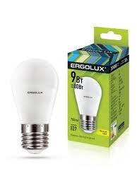 <b>Светодиодная лампочка LED</b> 9W 3000К E27 <b>Ergolux</b> 9425940 в ...