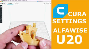 <b>Alfawise</b> U20 Cura Settings - YouTube