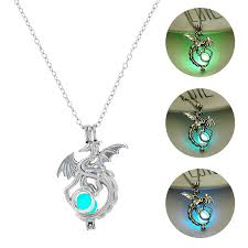 <b>2019</b> Fashion Dragon Glowing Stone <b>Necklace Women</b> Man Glow ...