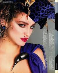 madonna in the eighties with flawless makeup by way bandy and hair by dir malige