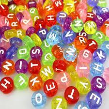 1000 Pcs Acrylic Transparent Multicolor Letter Beads ... - Amazon.com