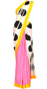 best images about sarees sonakshi sinha blouse add some quirk and fun to your ethnic wear this polka dot sari by the