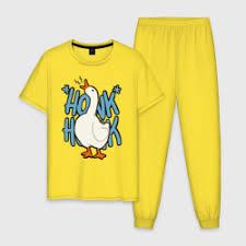 Мужская пижама хлопок <b>Untitled Goose</b> Game c принтом | Купить ...