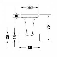 <b>Крючок Duravit Starck T</b> 0099301000 двойной, хром купить в ...