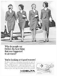 delta airlines stewardess flight attendant good reasons print ad delta airlines stewardess flight attendant 4 good reasons