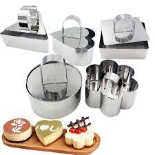 1Pcs <b>Stainless Steel</b> Mousse Cooking Presentation <b>Dessert Ring</b> ...