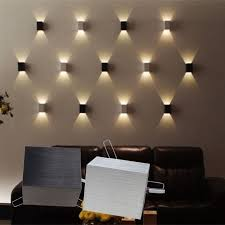 3w led square wall lamp hall porch walkway bedroom livingroom home fixture light modern bedside wall lighting