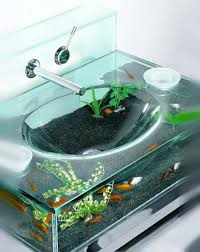 design basin bathroom sink vanities: accessories furniture awesome aquarium vanity sink design inspiration for bathroom with glass and modern chrome faucet