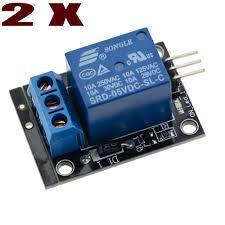 <b>2PCS 5V 1</b>-<b>Channel</b> Relay Board Module for Arduino Raspberry Pi ...