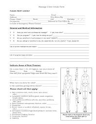 massage intake forms massage client intake form general and massage intake forms massage client intake form general and medical information
