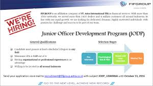 unud career development center fifgroup pengumuman