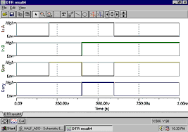 analog  digital  mixed circuit simulation in tina pro softwaredigital timing diagram