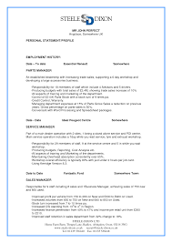 best photos of perfect cv example parts manager resume examples parts manager resume examples