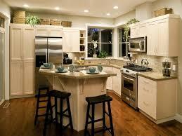 unique kitchen design ideas brown floor