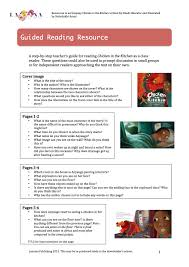 education guided reading resource on chicken in the kitchen