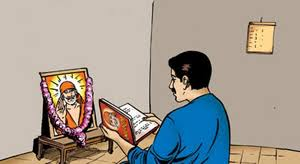 Image result for images of reading sai satcharitra