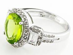 Discover this <b>gorgeous Green Peridot</b> Sterling Silver Ring 1.50