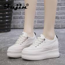 <b>Fujin</b> Spring Flat Platform Loafers Shoes <b>Woman</b> Cow Suede ...