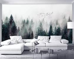 <b>Beibehang Custom wallpaper</b> Modern Fresh Fog Forest Clouds ...