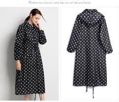 <b>Yuding</b> fashion <b>waterproof</b> black light long <b>women raincoat hooded</b> ...