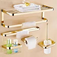 <b>Luxury Gold Color Brass</b> Square Bathroom Accessories Towel Shelf ...