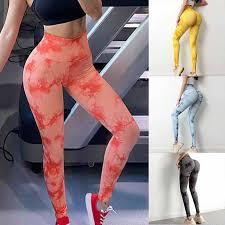 Female Tie Dye Fitness Leggings Sexy Butt Lifting Leggings Women ...